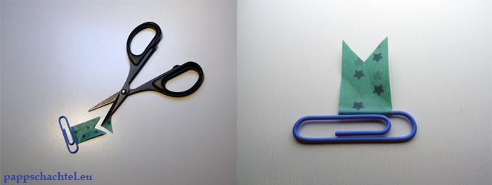 Büroklammer-Lesezeichen mit Washitape einfach selber basteln DIY Step3