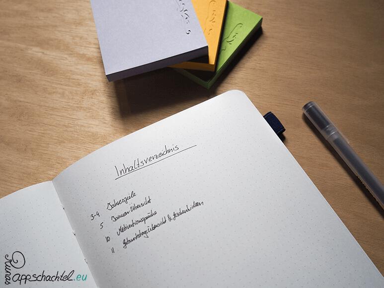 Bullet Journal System Notizbuch Wie funktioniert das Bullet Journal Grundlagen pappschachtel.eu