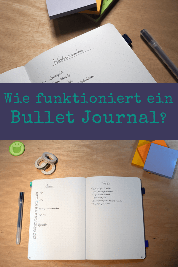 Bullet Journal System Notizbuch Wie funktioniert das Bullet Journal Grundlagen pappschachtel.eu